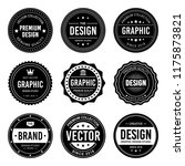 vintage badge design | Shutterstock .eps vector #1175873821