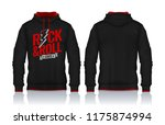 hoodie shirts template.jacket... | Shutterstock .eps vector #1175874994