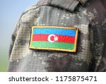 azerbaijan patch flag on... | Shutterstock . vector #1175875471