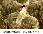 woman soldier. woman in army | Shutterstock . vector #1175875711