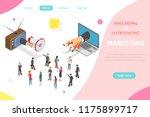 inbound vs outbound marketing... | Shutterstock .eps vector #1175899717