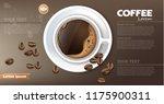 coffee cup banner vector... | Shutterstock .eps vector #1175900311