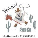 western bear baby ride horse...   Shutterstock .eps vector #1175900431