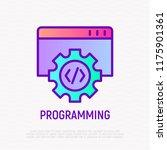 programming thin line icon.... | Shutterstock .eps vector #1175901361