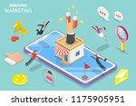 isometric flat concept of... | Shutterstock . vector #1175905951