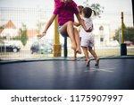active children. three little... | Shutterstock . vector #1175907997