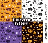 seamless pattern set with... | Shutterstock .eps vector #1175910244