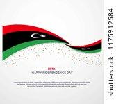 libya happy independence day... | Shutterstock .eps vector #1175912584