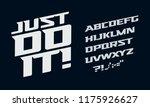 drive vector alphabet. race... | Shutterstock .eps vector #1175926627