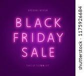 black friday sale neon web... | Shutterstock .eps vector #1175926684