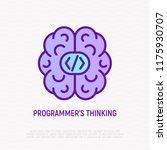 programmer's thinking  brain... | Shutterstock .eps vector #1175930707