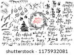 christmas and new year ink hand ... | Shutterstock .eps vector #1175932081