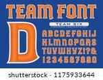letter font for team logos.... | Shutterstock .eps vector #1175933644