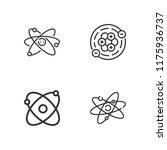collection of 4 nucleus outline ...   Shutterstock .eps vector #1175936737