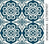 damask seamless tiles vector... | Shutterstock .eps vector #1175937457