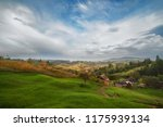 haystack on top of mountain and ...   Shutterstock . vector #1175939134