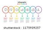 infographic element design 7... | Shutterstock .eps vector #1175939257
