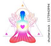 chakra concept. inner love ... | Shutterstock .eps vector #1175943994