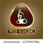 gold badge with stationary... | Shutterstock .eps vector #1175947981