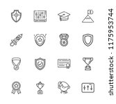collection of 16 achievement... | Shutterstock .eps vector #1175953744