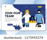 landing page template of join... | Shutterstock .eps vector #1175955274