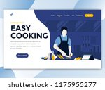 landing page template of easy... | Shutterstock .eps vector #1175955277