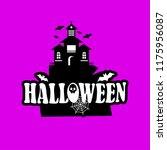 halloween design with... | Shutterstock .eps vector #1175956087