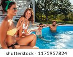 shot of four friends hanging...   Shutterstock . vector #1175957824