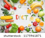 composition with healthy... | Shutterstock . vector #1175961871