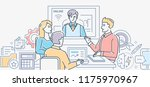 video conference   colorful... | Shutterstock .eps vector #1175970967