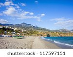 burriana beach at the... | Shutterstock . vector #117597151