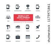 mobile app development   flat...   Shutterstock .eps vector #1175971861