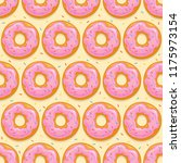 seamless background with donuts ... | Shutterstock .eps vector #1175973154