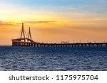 Incheon Bridge scenery. Incheon Bridge with sunset. Incheon Bridge to Incheon Airport. Republic of Korea. Beautiful sea bridge.