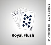 royal flush poker combination... | Shutterstock .eps vector #1175985811