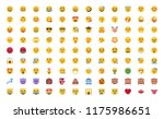 all basic face emojis ... | Shutterstock .eps vector #1175986651