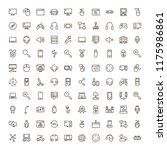 online game icon set.... | Shutterstock .eps vector #1175986861
