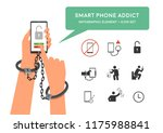 hand holding smartphone with...   Shutterstock .eps vector #1175988841