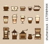 coffee objects and equipment.... | Shutterstock .eps vector #1175989444