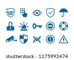 simple flat minimalist security ... | Shutterstock .eps vector #1175992474