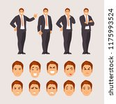 man office guy in different... | Shutterstock .eps vector #1175993524