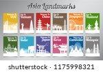 asia famous landmark in... | Shutterstock .eps vector #1175998321