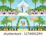 different wedding ceremonies... | Shutterstock .eps vector #1176001294