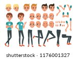 young man character constructor ... | Shutterstock .eps vector #1176001327