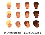 illustration of men head... | Shutterstock .eps vector #1176001351