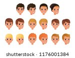 cartoon collection of variety... | Shutterstock .eps vector #1176001384