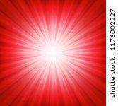 red sunburst poster with...   Shutterstock .eps vector #1176002227