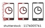 mobile clock icon in dispersed  ... | Shutterstock .eps vector #1176005761