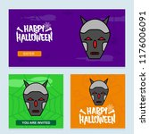 happy halloween invitation... | Shutterstock .eps vector #1176006091