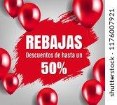 banner rebajas with balloons...   Shutterstock .eps vector #1176007921